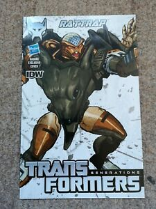TRANSFORMERS Generations Rattrap pack in comic - IDW Hasbro  - Excellent