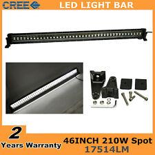 46inch 210W CREE LED Light Bar Spot Offroad 4WD JEEP Truck SUV Flash Strobe Lamp