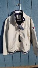 New Mens XXL Tommy Hilfiger Beige Jacket Water Resistant