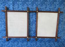 2 Antique Frames, Adirondack Style Walnut Wood Porcelain Dot, Wood Back, Wired