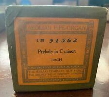 Aeolian Pipe-Organ Player Piano Roll 51362 Prelude to C Minor- Bach