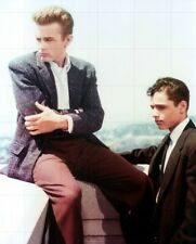 "JAMES DEAN - SAL MINEO - 10"" x 8"" Colour Photograph REBEL WITHOUT A CAUSE 1955"