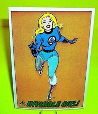 MARVEL COMIC BOOKS 1978 Vtg RARE POSTCARD w THE INVISIBLE GIRL (Fantastic Four)