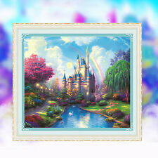 DIY 5D Diamond Ancient Castle Embroidery Cross Painting Stitch Home Wall Decor
