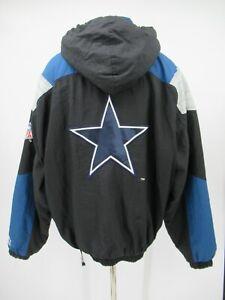 M9755 VTG Starter NFL Pro Line Dallas Cowboys Pullover Windbreaker Size XL