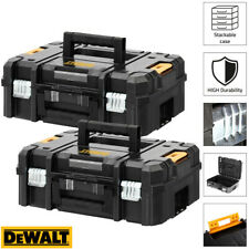 Dewalt DWST1-70703 TStak II Power Tool Storage Box 13.5L T-STAK Case - Twin Pack