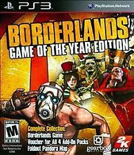 PS3 Borderlands -- Game of the Year Edition (Sony PlayStation 3, 2010)