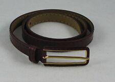 PRADA Burgundy Leather Gold Tone Buckle Unisex Belt Euro 90 / US 36