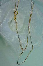 GLIEDERKETTE HALSKETTE 40 cm GOLDKETTE 750 GOLD 18 KT *tricolor*  NEU  sehr zart