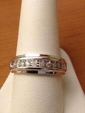 White Gold Mens Wedding Anniversary Round Diamonds Ring Band Channel Set SALE