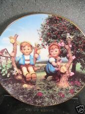 Danbury Mint Hummel 1992 Apple Tree Boy & Girl Ltd Ed Plate Mib