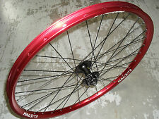 """Halo T2 Front Wheel (26"""") Shimano Disc Hub (RED) Fully Built (BRAND NEW!)"""