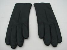 * NEW LADIES BLACK LEATHER WINTER GLOVES POLYESTER FLEECE LINING SIZE 6.5