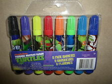 Pack Of 8 Teenage Mutant Ninja Turtles Colored Markers~Ages 3+, New In Package!