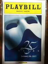 the Phantom of the Opera playbill Majestic Theatre 25th anniversary version 1/13