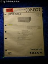Sony Service Manual CDP EX77 CD Player  (#4357)