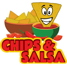 Chips Amp Salsa Concession Decal Sign Cart Trailer Stand Sticker Equipment