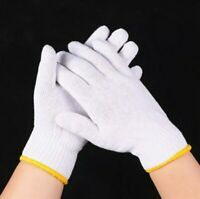 6 Pairs Safety Grip Protection Knit Ploy Cotton Gloves For Light To Medium Duty
