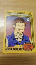 2016 Acheron Mints Inside Seventies (16) Bernie QUINLAN Fitzroy HAND SIGNED RARE