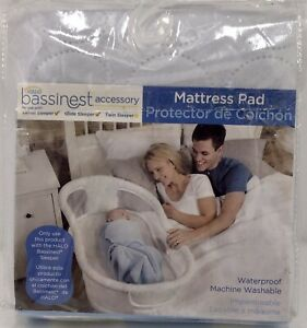 Halo Bassinest Sleeper Mattress Pad, White, Fits Swivel/ Glide/ Twin Baby Bed