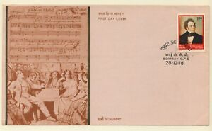 India 1978 FDC Franz Peter SCHUBERT COMPOSER  (BOMBAY GPO Cancellation)
