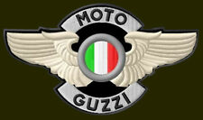 "MOTO GUZZI WINGED EMBROIDERED PATCH ~5-1/2""x 3-1/4"" MOTORCYCLE BORDADO AUFNÄHER"