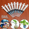 10pcs Disposable Plastic Injector Syringe + Needle Nutrient Measure 5ML Health.