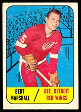 1967 68 TOPPS HOCKEY #45 BERT MARSHALL VG-EX DETROIT RED WINGS CARD
