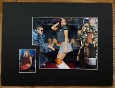 WWE WWF TNA Divas Melina Matted Photo Print + Collector Card Official Licensed W