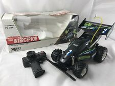 RARE NIKKO ORIGINAL INTERCEPTOR RC DUNE BUGGY W/ BOX 16490