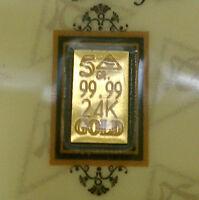 ACB Gold 5GRAIN BULLION PURE Bars 9999 fine certificate of authenticity $