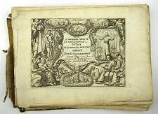 KUPFERSTICH GRAVURE VITA ET MIRACULA CHRISTI JOLLAIN FRAGMENT JESUS LATEIN 1650