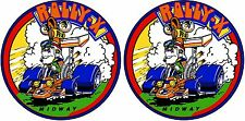Rally X Upright Arcade cabinet decal set