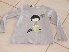 324 – T-shirt 4 ans ML gris thème parapluie SERGENT MAJOR