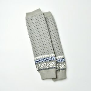 Gray or White with Mini Polka Dots and Aztec Winter Leg Warmers