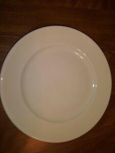 "9"" Wide Rim Tan Restaurant Ware Lunch Plate Buffalo China"