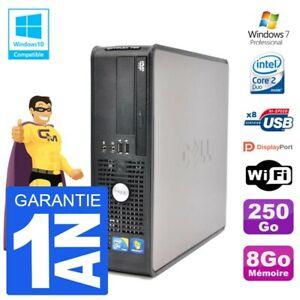 PC Dell 780 SFF Intel E7500 RAM 8Go Disque 250Go Graveur DVD Wifi W7