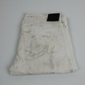 True Religion Women White & Silver Jeans Size 28 Made in Italy