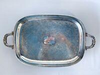 Vintage ALVIN Silverplate by Gorham Rectangular Serving Tray w/ Handles Ornate