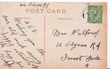 Genealogy Postcard - Family History - Watford - Slyvan Road - Forest Gate E Y870