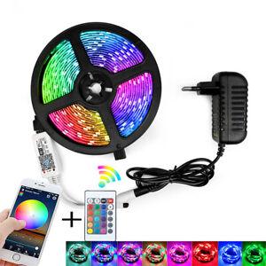 DC12V SMD 2835 5M RGB led Strips Light Flexible Stripe Lamp IR WIFI Controller