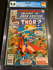 What If #10 CGC 9.0 WP First APP JANE FOSTER As Thor, Hot Movie Coming