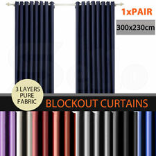 """Polyester 81"""" - 100"""" Width Window Curtains"""