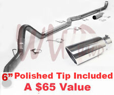 """5"""" DownPipe Back Exhaust + 6"""" Tip System 01-07 Chevy/GM Truck 6.6L Turbo Duramax"""