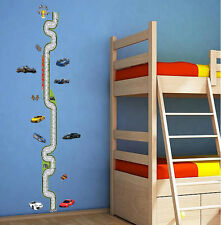 Removable Growth Chart Racing Track Child Height Chart Wall Decal Decor Sticker