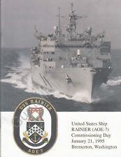 Uss Rainier (Aoe 7) - Us Navy Commissioning Program - 1995