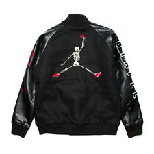 Jeff Staple Naturel The Til Death Varsity Jacket Large Box Logo Jumpman Pigeon