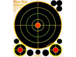 Paper Target - Glow Shot Hi Vis Splatter Targets - 8 Inch Adhesive 25 Pack