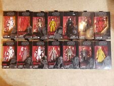 Star Wars black series 6 inch 14 figure lot Sith Trooper Kylo Rey Snoke Guard