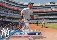 Gleyber Torres 2018 Topps Update Series Rookie Debut RC #US191 New York Yankees